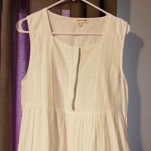 White button top dress